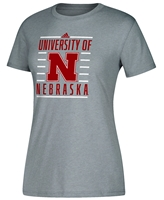 Adidas U of N Yard Line Ladies Tee Nebraska Cornhuskers, Nebraska  Ladies Tops, Huskers  Ladies Tops, Nebraska  Ladies T-Shirts, Huskers  Ladies T-Shirts, Nebraska  Ladies, Huskers  Ladies, Nebraska  Short Sleeve, Huskers  Short Sleeve, Nebraska Adidas W Gray SS Performance Big Bars, Huskers Adidas W Gray SS Performance Big Bars