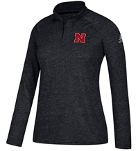 Adidas W Black Ultimate 14 Zip Nebraska Cornhuskers, Nebraska  Ladies Outerwear, Huskers  Ladies Outerwear, Nebraska  Ladies, Huskers  Ladies, Nebraska Adidas W Black Ultimate 14 Zip, Huskers Adidas W Black Ultimate 14 Zip