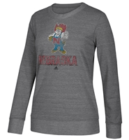 Adidas Herbie Gals Soft Comfy Faded Fleece Nebraska Cornhuskers, Nebraska  Ladies Sweatshirts, Huskers  Ladies Sweatshirts, Nebraska  Ladies, Huskers  Ladies, Nebraska  Crew, Huskers  Crew, Nebraska Adidas W Gray Comfy Crew Sweatshirt Soft Faded, Huskers Adidas W Gray Comfy Crew Sweatshirt Soft Faded