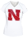 Adidas White Womens Cut Above Logo Tee Nebraska Cornhuskers, Nebraska  Ladies Tops, Huskers  Ladies Tops, Nebraska  Ladies T-Shirts, Huskers  Ladies T-Shirts, Nebraska  Ladies, Huskers  Ladies, Nebraska  Short Sleeve   , Huskers  Short Sleeve   , Nebraska Adidas White Womens Cut Above Logo Tee, Huskers Adidas White Womens Cut Above Logo Tee