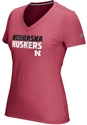 Adidas Womens Nebraska Huskers Shock Energy V-Neck Tee - Red Nebraska Cornhuskers, Nebraska  Short Sleeve, Huskers  Short Sleeve, Nebraska  Ladies, Huskers  Ladies, Nebraska  Ladies T-Shirts, Huskers  Ladies T-Shirts, Nebraska Adidas Womens Nebraska Huskers Shock Energy V-Neck Tee - Red , Huskers Adidas Womens Nebraska Huskers Shock Energy V-Neck Tee - Red