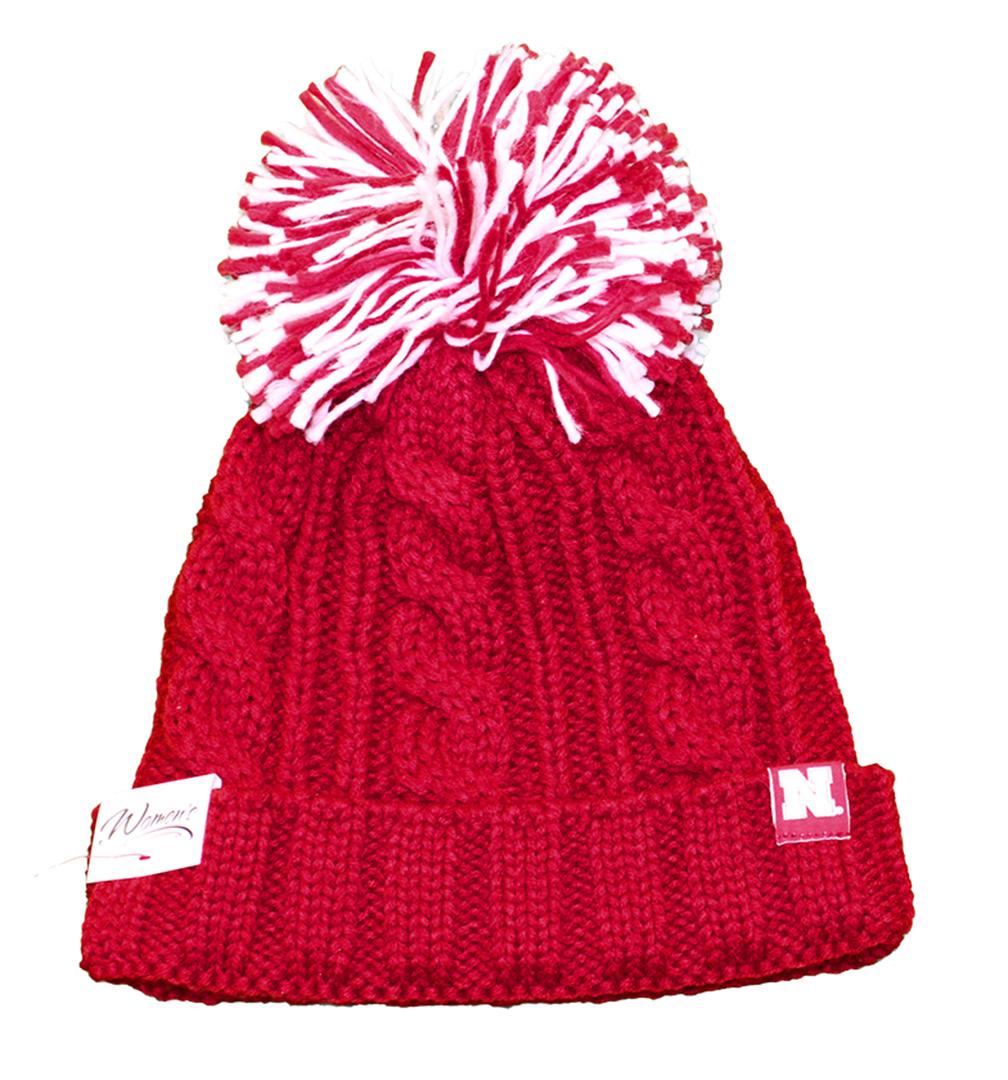 Adidas Womens Nebraska Pom Pom Stocking Cap - HT-96077 ... b5dd2f702