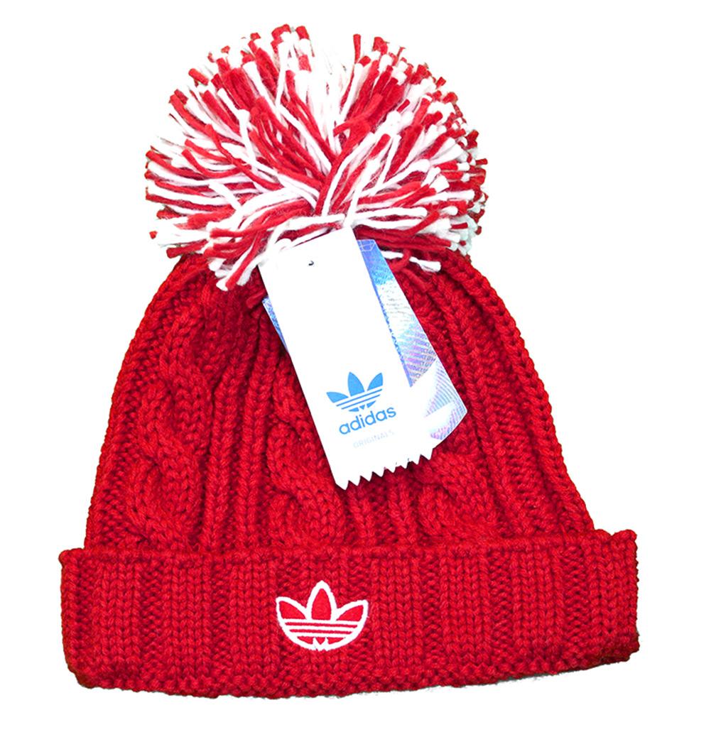 ... Adidas Womens Nebraska Pom Pom Stocking Cap - HT-96077 bef6c5ac8