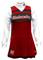 Adidas Youth Husker Cheer Jumper Dress With Turtleneck Set Nebraska Cornhuskers, husker football, nebraska cornhuskers merchandise, nebraska merchandise, husker merchandise, nebraska cornhuskers apparel, husker apparel, nebraska apparel, husker youth apparel, nebraska cornhuskers youth apparel, nebraska kids apparel, husker kids apparel, husker kids merchandise, nebraska cornhuskers kids merchandise,Adidas Youth Girls Cheer Jumper Dress With Turtleneck Set