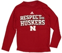 Adidas Youth Long Sleeve Respect Huskers Tee Nebraska Cornhuskers, Nebraska  Youth, Huskers  Youth, Nebraska  Long Sleeve, Huskers  Long Sleeve, Nebraska  Kids, Huskers  Kids, Nebraska Adidas Youth L/S Respect Huskers Tee, Huskers Adidas Youth L/S Respect Huskers Tee