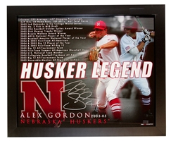 Alex Gordon Framed Autographed Print Nebraska Cornhuskers, husker football, nebraska cornhuskers merchandise, husker merchandise, nebraska merchandise, husker memorabilia, husker autographed, nebraska cornhuskers autographed, Tom Osborne autographed, Tom Osborne signed, Tom Osborne collectible, Tom Osborne, nebraska cornhuskers memorabilia, nebraska cornhuskers collectible, Orange Bowl Stadium Seat Autographed by Coach Osborne