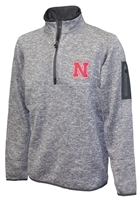 Antigua Husker Smoke Quarter Zip Sweater Jacket Nebraska Cornhuskers, Nebraska  Mens Outerwear, Huskers  Mens Outerwear, Nebraska  Mens, Huskers  Mens, Nebraska Black Smoke 14 Zip Sweater Jacket Ant, Huskers Black Smoke 14 Zip Sweater Jacket Ant