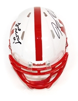 Armstrong Jr and Westerkamp Autogaphed Mini Speed Helmet Nebraska Cornhuskers, Nebraska  Former Players, Huskers  Former Players, Nebraska Armstrong Jr and Westerkamp Autogaphed Mini Speed Helmet, Huskers Armstrong Jr and Westerkamp Autogaphed Mini Speed Helmet