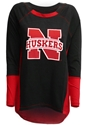 Big N Boatneck Longsleeve Nebraska Cornhuskers, Nebraska  Ladies Tops, Huskers  Ladies Tops, Nebraska Big N Boatneck Longsleeve, Huskers Big N Boatneck Longsleeve