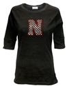 Black Checkerboard Bling Tee Nebraska Cornhuskers, Nebraska  Ladies, Huskers  Ladies, Nebraska  Ladies T-Shirts, Huskers  Ladies T-Shirts, Nebraska Black Checkerboard Bling Tee, Huskers Black Checkerboard Bling Tee