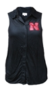Black Iron N Button Down Tank Nebraska Cornhuskers, Nebraska  Ladies Tops, Huskers  Ladies Tops, Nebraska  Tank Tops, Huskers  Tank Tops, Nebraska  Ladies T-Shirts, Huskers  Ladies T-Shirts, Nebraska Black Iron N Button Down Tank, Huskers Black Iron N Button Down Tank
