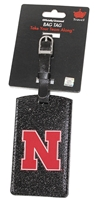 Husker N Sparkle Bag Tag Aminco Nebraska Cornhuskers, Nebraska  Bags Purses & Wallets, Huskers  Bags Purses & Wallets, Nebraska Red Sparkle Bag Tag Aminco, Huskers Black Sparkle Bag Tag Aminco