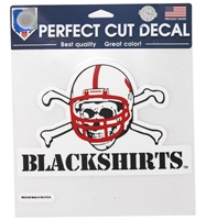 Blackshirts 8 Inch Static Cling Nebraska Cornhuskers, Nebraska Vehicle, Huskers Vehicle, Nebraska Stickers Decals & Magnets, Huskers Stickers Decals & Magnets, Nebraska Blackshirts, Huskers Blackshirts, Nebraska Blackshirts Mutli PK Decals, Huskers Blackshirts Mutli PK Decals