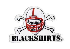 Blackshirts Acrylic Magnet Nebraska Cornhuskers, Nebraska Stickers Decals & Magnets, Huskers Stickers Decals & Magnets, Nebraska Blackshirts Acrylic Magnet, Huskers Blackshirts Acrylic Magnet
