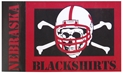 Blackshirts Colorblock Flag Nebraska Cornhuskers, Nebraska  Flags & Windsocks, Huskers  Flags & Windsocks, Nebraska  Patio, Lawn & Garden, Huskers  Patio, Lawn & Garden, Nebraska Blackshirts Colorblock Flag, Huskers Blackshirts Colorblock Flag