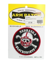 Blackshirts Embroidered Patch Nebraska Cornhuskers, Nebraska Blackshirt Patch