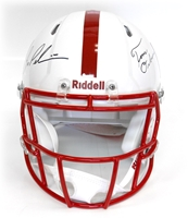 Bo N Tom Signed Revolution/Speed Helmet Nebraska Cornhuskers, husker football, nebraska cornhuskers merchandise, husker merchandise, nebraska merchandise, husker memorabilia, husker autographed, nebraska cornhuskers autographed, nebraska cornhuskers memorabilia, nebraska cornhuskers collectible, Pelini/Osborne Autographed Revolution Helment