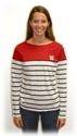 Boat neck Striped L/S Tee Nebraska Cornhuskers, Nebraska  Ladies, Huskers  Ladies, Nebraska  Long Sleeve, Huskers  Long Sleeve, Nebraska  Ladies Tops, Huskers  Ladies Tops, Nebraska Boat neck Striped L/S Tee, Huskers Boat neck Striped L/S Tee