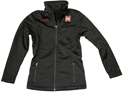 COLUMBIA LADIES BLK SOFTSHELL Nebraska cornhuskers, husker football, nebraska merchandise, husker merchandise, husker apparel, husker womens coat,  nebraska womens coat, columbia husker coat, nebraska columbia coat