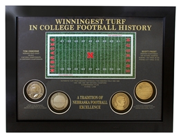 Championship Turf Frost N Osborne Coins Plaque Nebraska Cornhuskers, Nebraska  Framed Pieces, Huskers  Framed Pieces, Nebraska Collectibles, Huskers Collectibles, Nebraska Championship Turf Frost N Osborne Coins Plaque, Huskers Championship Turf Frost N Osborne Coins Plaque