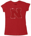 Childrens Red Sequins Iron N Nebraska Cornhuskers, Nebraska  Short Sleeve, Huskers  Short Sleeve, Nebraska  Kids, Huskers  Kids, Nebraska  Childrens , Huskers  Childrens , Nebraska Childrens Red Sequins Iron N, Huskers Childrens Red Sequins Iron N
