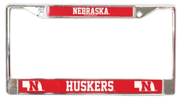 Chrome Huskers State License Frame Nebraska Cornhuskers, Nebraska Vehicle, Huskers Vehicle, Nebraska Chrome Huskers State License Frame Rico, Huskers Chrome Huskers State License Frame Rico
