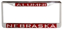 Chrome Nebraska Alumni License Frame Nebraska Cornhuskers, Nebraska Vehicle, Huskers Vehicle, Nebraska Chrome Nebraska Alumni License Frame, Huskers Chrome Nebraska Alumni License Frame