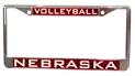 Chrome Nebraska Vollebyall License Frame Nebraska Cornhuskers, Nebraska Vehicle, Huskers Vehicle, Nebraska Volleyball, Huskers Volleyball, Nebraska Chrome Nebraska Vollebyall License Frame, Huskers Chrome Nebraska Vollebyall License Frame