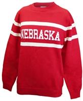 Classic Nebraska Heavy-Knit Sweater Nebraska Cornhuskers, Nebraska  Mens Sweatshirts, Huskers  Mens Sweatshirts, Nebraska Red Nebraska Vintage Sweater HF, Huskers Red Nebraska Vintage Sweater HF