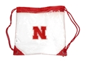 Clear Draw Cord Backsack Bag Nebraska Cornhuskers, husker football, nebraska cornhuskers merchandise, nebraska merchandise, husker merchandise, nebraska cornhuskers apparel, husker apparel, nebraska apparel, husker mens apparel, nebraska cornhuskers mens apparel, nebraska mens apparel, husker mens merchandise, nebraska cornhuskers mens merchandise, mens nebraska accessories, mens husker accessories, mens nebraska cornhusker accessories,String Pack Bag, Clear Draw Cord Backsack Bag