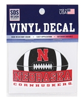 Cornhusker Football 3 Inch Decal Nebraska Cornhuskers, Nebraska Vehicle, Huskers Vehicle, Nebraska Stickers Decals & Magnets, Huskers Stickers Decals & Magnets, Nebraska Cornhusker Football 3 Inch Decal, Huskers Cornhusker Football 3 Inch Decal