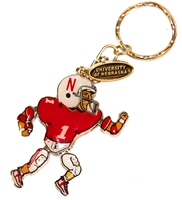 Cornhusker Player Keychain Nebraska Cornhuskers, Nebraska Vehicle, Huskers Vehicle, Nebraska Cornhusker Player Keychain, Huskers Cornhusker Player Keychain