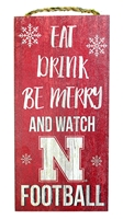 Eat Drink N Be Merry  Nebraska Sign Nebraska Cornhuskers, Nebraska  Frames Pieces, Huskers  Frames Pieces, Nebraska  Holiday Items, Huskers  Holiday Items, Nebraska Eat Drink N Be Merry  Nebraska Sign, Huskers Eat Drink N Be Merry  Nebraska Sign