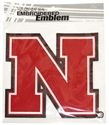 Embroidered Patch, 8 Inch Nebraska Cornhuskers, Nebraska  Tattoos & Patches, Huskers  Tattoos & Patches, Nebraska Stickers Decals & Magnets, Huskers Stickers Decals & Magnets, Nebraska Embroidered Patch, Huskers Embroidered Patch