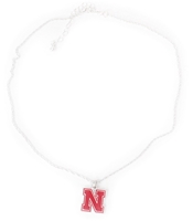 FANtastic Nebraska N logo Necklace Nebraska Cornhuskers, Nebraska  Ladies, Huskers  Ladies, Nebraska  Jewelry & Hair, Huskers  Jewelry & Hair, Nebraska  Ladies Accessories, Huskers  Ladies Accessories, Nebraska FANtastic N logo Necklace, Huskers FANtastic N logo Necklace