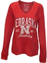 Faded Red L/S Glitter Vneck Nebraska Cornhuskers, Nebraska  Ladies T-Shirts, Huskers  Ladies T-Shirts, Nebraska  Ladies, Huskers  Ladies, Nebraska  Long Sleeve, Huskers  Long Sleeve, Nebraska Faded Red L/S Glitter Vneck , Huskers Faded Red L/S Glitter Vneck