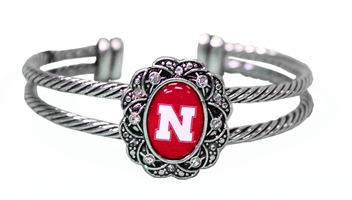 Floral Nebraska Bracelet Nebraska Cornhuskers, Nebraska  Ladies Accessories, Huskers  Ladies Accessories, Nebraska  Jewelry & Hair, Huskers  Jewelry & Hair, Nebraska  Ladies, Huskers  Ladies, Nebraska Floral Nebraska Bracelet, Huskers Floral Nebraska Bracelet