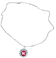 Floral Nebraska Necklace Nebraska Cornhuskers, Nebraska  Ladies Accessories, Huskers  Ladies Accessories, Nebraska  Jewelry & Hair, Huskers  Jewelry & Hair, Nebraska  Ladies, Huskers  Ladies, Nebraska Floral Nebraska Necklace, Huskers Floral Nebraska Necklace
