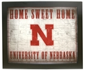 Framed Home Sweet Home - Grey Nebraska Cornhuskers, Nebraska  Framed Pieces, Huskers  Framed Pieces, Nebraska Framed Home Sweet Home - Grey, Huskers Framed Home Sweet Home - Grey