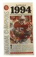 Frazier N Osborne Signed 1994 National Champs OWH Front Page - OK-B7050