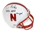 Frazier Signed Champs Mini Nebraska Cornhuskers, Nebraska One of a Kind, Huskers One of a Kind, Nebraska  Balls & Helmets, Huskers  Balls & Helmets, Nebraska  Former Players, Huskers  Former Players, Nebraska Frazier Signed Champs Mini, Huskers Frazier Signed Champs Mini