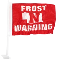 Frost Warning Car Flag Nebraska Cornhuskers, Nebraska Vehicle, Huskers Vehicle, Nebraska Frost Warning Car Flag, Huskers Frost Warning Car Flag