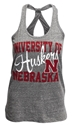 GRAY KEYHOLE ROYCE U OF N HUSKERS BLAIR Nebraska Cornhuskers, Nebraska  Ladies, Huskers  Ladies, Nebraska  Tank Tops, Huskers  Tank Tops, Nebraska  Ladies T-Shirts, Huskers  Ladies T-Shirts, Nebraska GRAY KEYHOLE ROYCE U OF N HUSKERS BLAIR, Huskers GRAY KEYHOLE ROYCE U OF N HUSKERS BLAIR