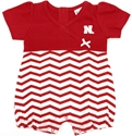 Girls Infant Red and White Chevron Romper Nebraska Cornhuskers, Nebraska  Infant, Huskers  Infant, Nebraska  Kids, Huskers  Kids, Nebraska  Short Sleeve , Huskers  Short Sleeve , Nebraska Girls Infant Red and White Chevron Romper, Huskers Girls Infant Red and White Chevron Romper