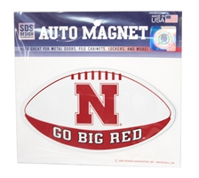Go Big Red Football Magnet Nebraska Cornhuskers, Nebraska Vehicle, Huskers Vehicle, Nebraska Stickers Decals & Magnets, Huskers Stickers Decals & Magnets, Nebraska Go Big Red Football Magnet, Huskers Go Big Red Football Magnet