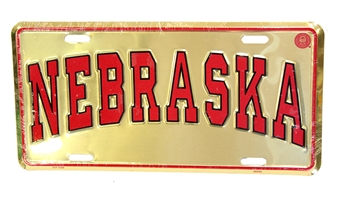 Gold Nebraska License Plate Nebraska Cornhuskers, husker football, nebraska cornhuskers merchandise, husker merchandise, nebraska merchandise, nebraska cornhuskers vehicle items, husker car stuff, nebraska vehicle items, husker vehicle items, husker auto accessories, nebraska cornhuskers auto accessories, nebraska car accessories, husker car accessories, nebraska cornhuskers car accessories, nebraska cornhuskers truck accessories, husker truck accessories, nebraska truck accessories, Nebraska License Plate