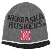 Gray Player Knit Beanie Hat Adi Nebraska Cornhuskers, Nebraska  Youth, Huskers  Youth, Nebraska  Kids, Huskers  Kids, Nebraska Gray Player Knit Beanie Hat Adi, Huskers Gray Player Knit Beanie Hat Adi