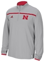 Grey Adidas 1/4 Zip Huskers Sideline Long Sleeve Knit Nebraska Cornhuskers, Nebraska  Mens, Huskers  Mens, Nebraska  Mens Outerwear, Huskers  Mens Outerwear, Nebraska Grey Adidas 1/4 Zip Huskers Sideline Long Sleeve Knit , Huskers Grey Adidas 1/4 Zip Huskers Sideline Long Sleeve Knit