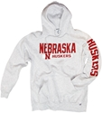 Grey Russell Hoody w/ front and sleeve print Nebraska Cornhuskers, Nebraska  Mens Sweatshirts, Huskers  Mens Sweatshirts, Nebraska  Mens, Huskers  Mens, Nebraska  Hoodies   , Huskers  Hoodies   , Nebraska Grey Russell Hoody w/ front and sleeve print, Huskers Grey Russell Hoody w/ front and sleeve print