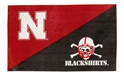 HUSKER/BLACKSHIRTS FLAG Nebraska Cornhuskers, Husker and Blackshirts Flag